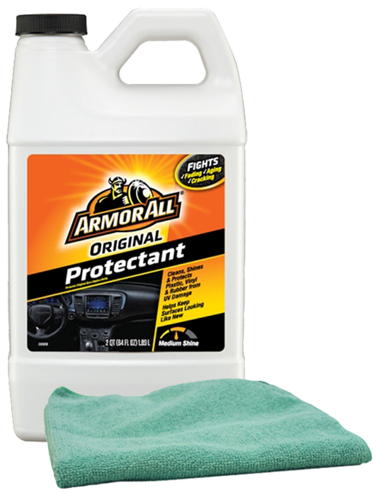 Image of Armor All Original Shine Protectant (64 oz.) & Microfiber Cloth Kit