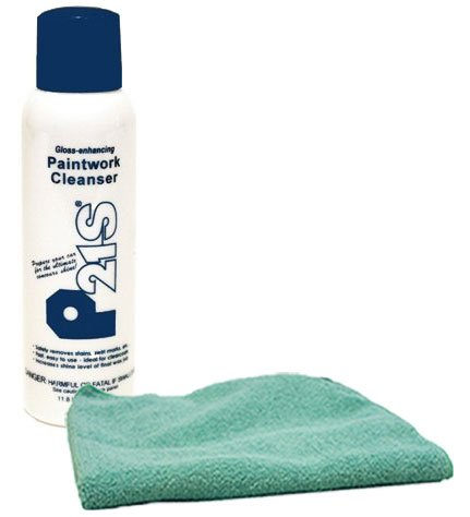 Image of P21S Gloss Enhancing Paintwork Cleanser (11.8 oz) & Microfiber Cloth Kit