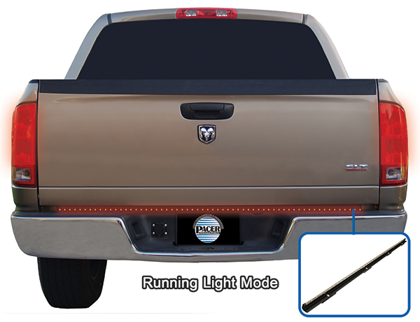 "Image of ""Pacer 60"""" Multi-Functional 3 Color Rigid Tailgate Light Bar"""