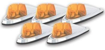 Pacer Deluxe Amber Five Cab Roof Running Lights Kit