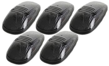Pacer Dodge Style Smoke Five Cab Roof Running Lights Kit (1999-2002)