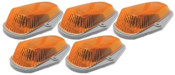 Pacer Ford Style Amber Five Cab Roof Running Lights Kit (1980-1998)