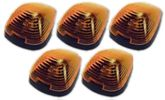 Pacer Ford Style Amber Five Cab Roof Running Lights Kit (1999-2008)
