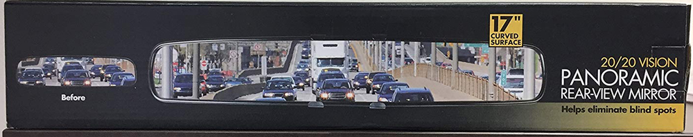 Image of Panoramic 20/20 Vision Rear View Mirror Attachment - 14 inches