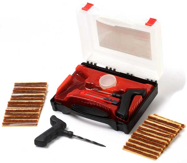 "Image of ""Passenger Car """"String-Type"""" Tire Repair Inserts Tote Kit"""