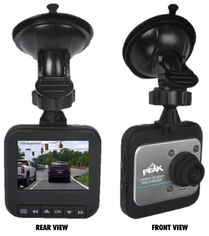Peak 2.4 LCD Dash Mounted Video Recording Camera
