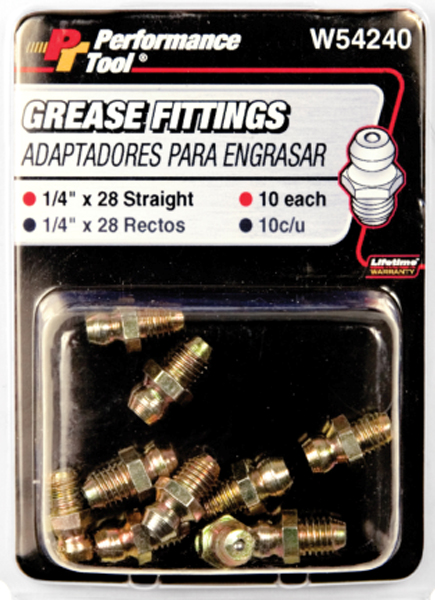Performance Tool 10 Piece Grease Fitting Assortment