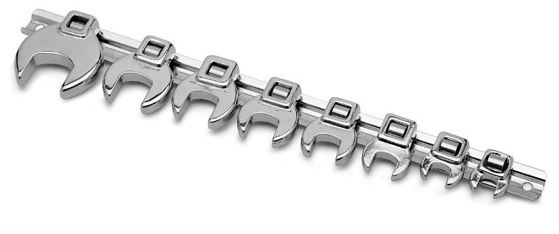 Performance Tool 10 Piece Open End Crowfoot Wrench Set  -  SAE