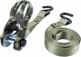 """Performance Tool 2 Pack 1"""" X 10' Olive Green Camo Tie Downs"""