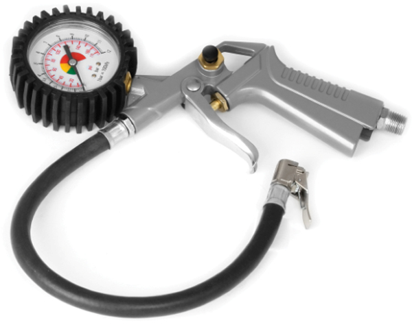 Image of Performance Tool Tire Inflator With Dial Gauge