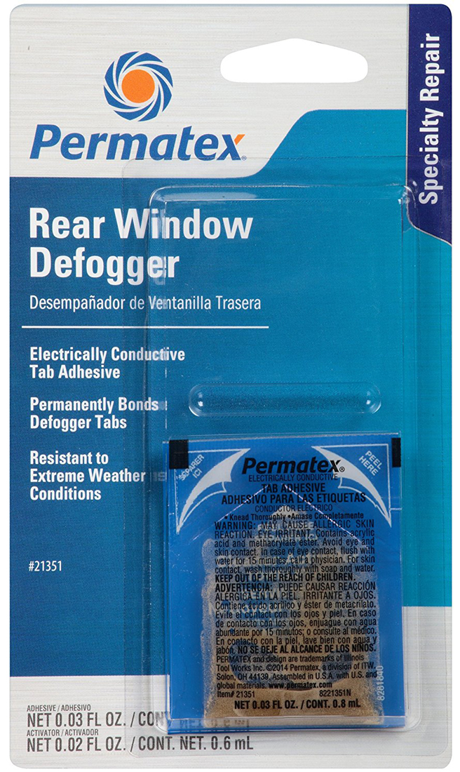 Image of Permatex Electrically Conductive Rear Window Defogger Tab Adhesive