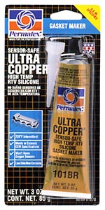 Permatex High-Temp Ultra Copper RTV Silicone Gasket Maker (3 oz.)