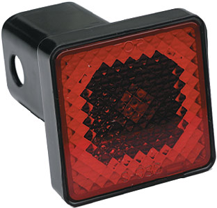 "Image of ""Pilot 2"""" Receiver Hitch Cover/Brake Light"""