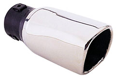 "Image of ""Pilot 2"""" Soft Square Slant Exhaust Tip"""