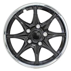 Image of Pilot Automotive Black and Chrome Wheel Cover (Set of 4) - 15 inch