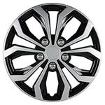 Pilot Automotive Spyder Performance Wheel Cover, Two Tone Black/Silver Finish, (Pack of 4)