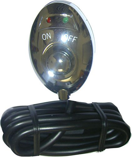 Image of Pilot Black LED Push Button Switch - GREEN