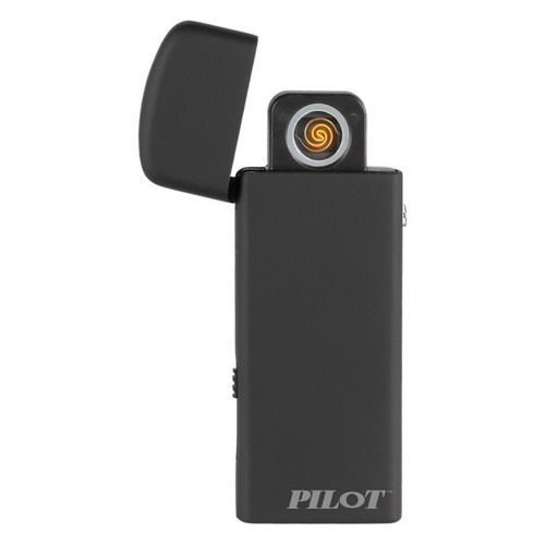 Image of Pilot Black Metal USB Rechargeable Lighter