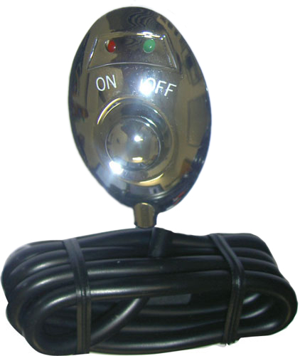 Image of Pilot Chrome Green LED Push Button Switch