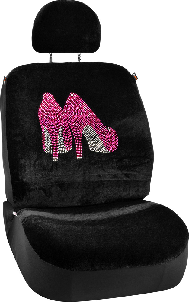 Image of Pink High Heels Universal Low Back Seat Cover