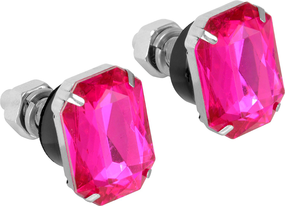 Image of Pink Ruby License Plate Fasteners