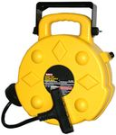 Professional Retractable Reel With 50 Ft. Quad Tap Cord (15 Amps)