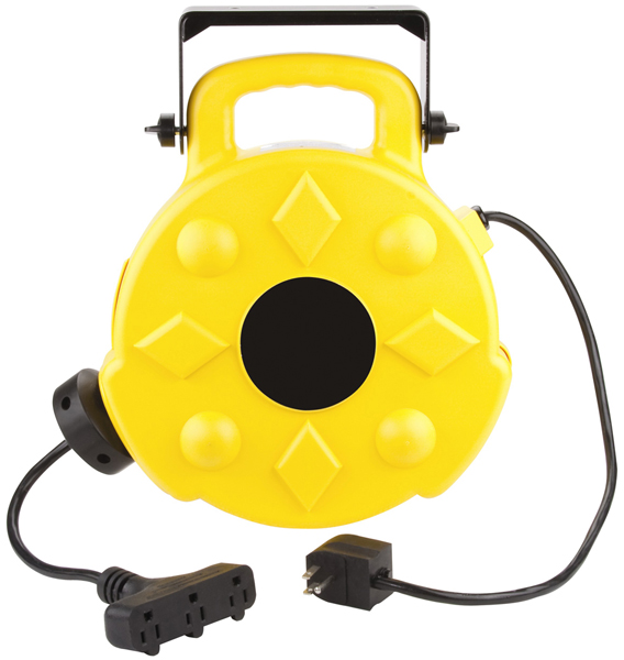Image of Professional Retractable Reel With 50 Ft. Triple Tap Cord (13 Amps)