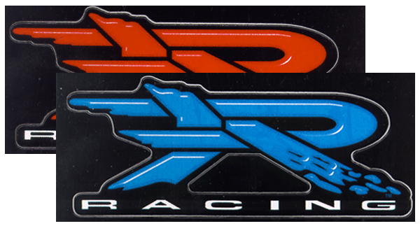 Image of R Racing Window Decals - BLUE