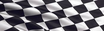 Racing Checkered Flag Rear Window Decal