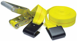 """Ratchet Strap with Wide Handle and Flat Hook (2"""" x 27')"""