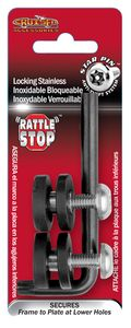 Rattle Stop Stainless Steel Locking License Plate Frame Fastener