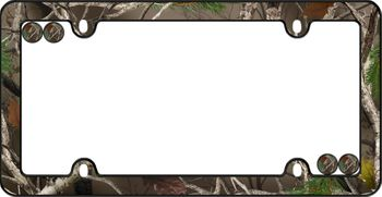 Real Tree Camouflage License Plate Frame Kit