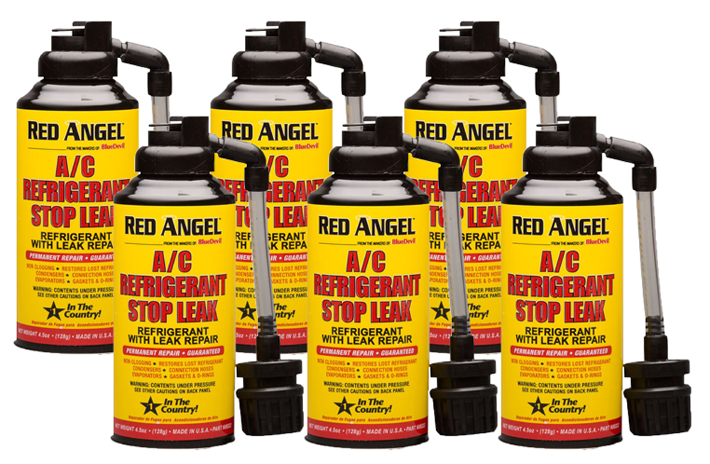 Image of Red Angel A/C Stop Leak & Conditioner (4.5 oz) - 6 Pack