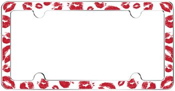 Red Hot Lips License Plate Frame