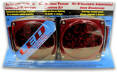 Red Lens Submersible Trailer LED Lighting Kit