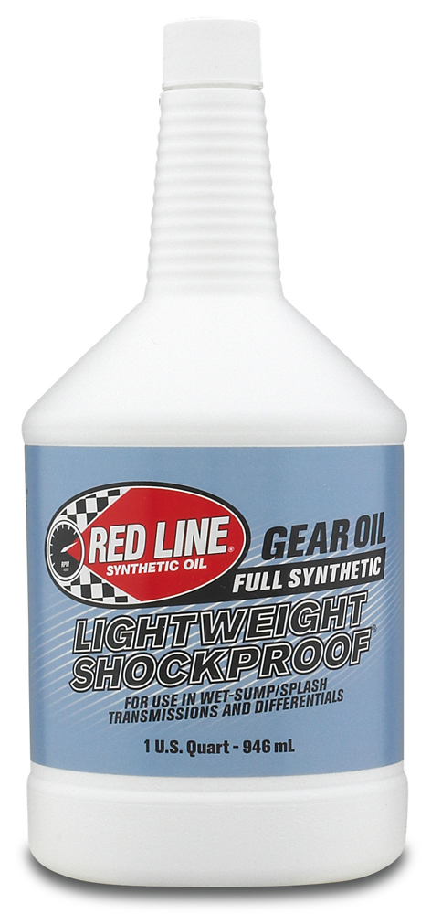 The Red  Line LightWeight ShockProof Gear Oil is a unique lubricant designed to  lubricate racing transmissions...