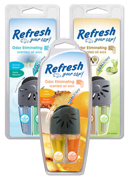 Image of Refresh Odor Eliminating Dual Oil Scented Oil Wick Air Fresheners