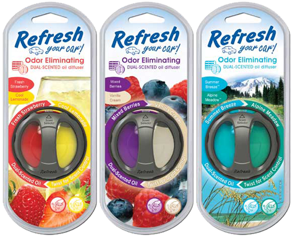 Image of Refresh Odor Eliminating Dual Scented Oil Diffuser Air Fresheners