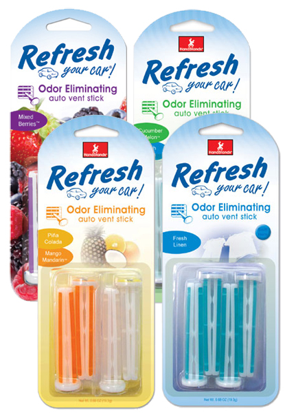 Image of Refresh Vent Stick Car Air Fresheners (4 pack)