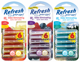 Refresh Vent Stick Car Air Fresheners (6 pack)