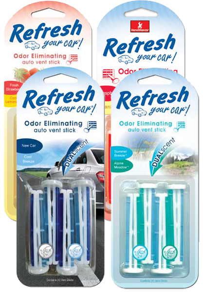 Image of Refresh Vent Stick Dual Scented Air Fresheners (4 pack)