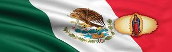Right Side Lady On Mexican Flag Rear Window Decal