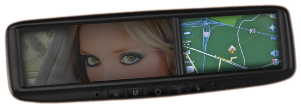 Image of Roadtrip GPS Navigation & Bluetooth Rearview Mirror