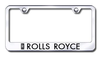 Rolls Royce Laser Etched Stainless Steel License Plate Frame