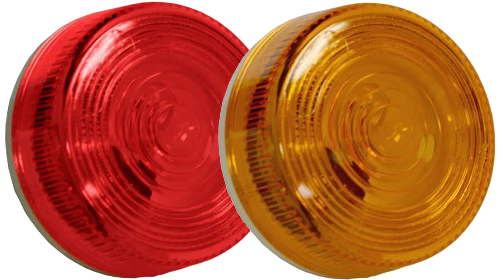 """Image of """"2-13/16"""""""" Plastic Round Side & Clearance Marker - AMBER"""""""