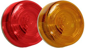 """2-13/16"""" Plastic Round Side & Clearance Marker"""