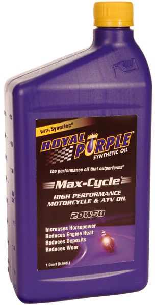 Royal Purple 20W50 Max-Cycle Motorcycle & ATV Motor Oil (1 Qt )