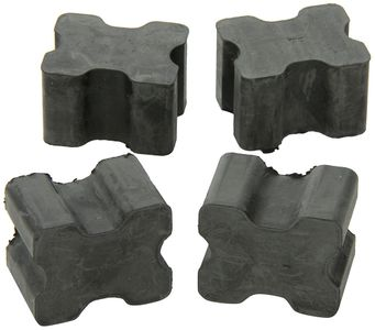 """Rubber Front Coil Spring 1"""" Boosters (4 Pack)"""