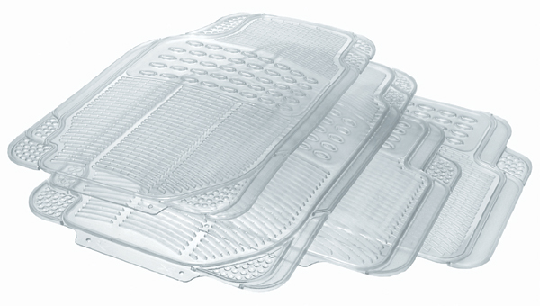 Image of Rubber Queen Clear Universal All Season 4-Pc. Rubber Floor Mats