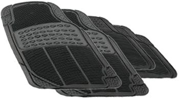 Rubber Queen Universal 4-Piece Rubber Floor Mats